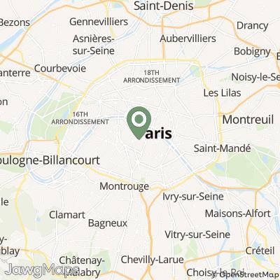 localisation de Petit Mouchoir de Paris